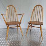 Ref : MC806 - Pair of chair and armchair Windsor - Lucian Randolph ERCOLANI