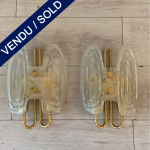 Ref : LA244 - Pair of 2 sconces in Murano