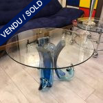 Ref : MT970 - Table basse en verre de Murano