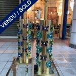 Ref : LL386 - Paire de lampes avec papillons en verre de Murano