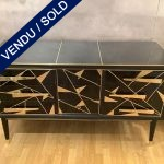 Ref : M263 - Italian dresser in tinted glass, 3 drawers