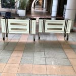 Ref : M267 - Pair of commodes in tinted glass