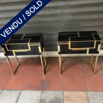 Ref : M271 - Pair of glass tinted italian beside