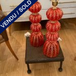 Ref : LL389 - Pair of lamps in Murano