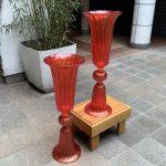 Ref : V340 - Paire de vases en verre de Murano signé ADona