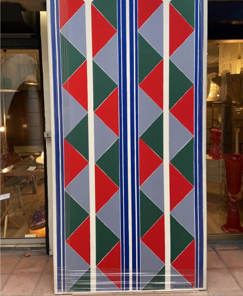 Ref : ADT025 - Toile de coton à motifs géométriques - signée Sonia Delaunay