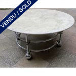 Ref : MT978 - Table basse avec plateau en marbre ou en verre