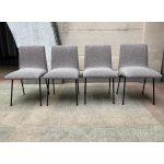 Ref : MC789 - Pierre Paulin, 4 chaises modèle CM 145