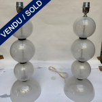 Ref : LL381 - Pair of lamps in Murano - SOLD