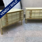 Ref : M278 - Pair of beige chest 2 drawers