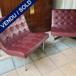 "Ref : MC795 - Pair of armchairs ""New York"". William Katavolos, Ross Little et Douglas Kelly"