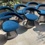 Ref : MC794 - 6 chaises - Warren Platner