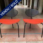 """Ref : MC799 - Paire de chaises tripodes """"Nagasaki"""" - Mathieu Mategot"""