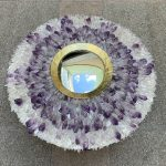 Ref : MI981 - Mirror with brass and amethyst frame