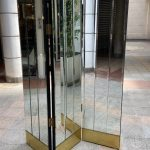 Ref : P004 - Mirror, wood and brass screen