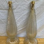 Ref : LL433 - Paire de lampes Toso Murano