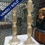 Ref : LL392 - Paire de lampes en verre de Murano