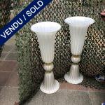 Ref : V339 - Paire de vases en verre de Murano