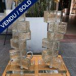 """Ref : LL393 - Murano glass . Signed """" Toso Murano"""""""