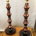 Ref : LL397 - Pair of lamps in Murano glass