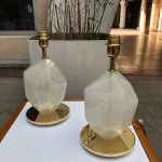 Ref : LL407 - Set of 2 lamps in glass of Murano