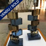 Ref : LL408 - Set of 2 lamps in Murano- signed ADona