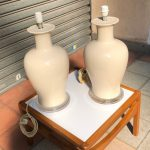 Ref : LL411 - Set of 2 lamps in cracked ceramic