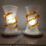 Ref : LL422 - Paire de lampes de table Murano - Clessidra con Morise