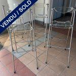 Ref : MC808 - set of 4 folding bar chairs
