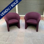 "Ref : MC764 - Pair of arm-chairs ""Harmony"""