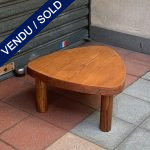 Ref : MT965 - Table Cœur de Pierre Chapo orme massif - circa 1975