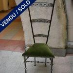 6 chaises métal époque1940 - VENDU