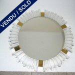 Round mirror in glass and gilded brass - SOLD