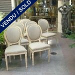 Set of 8 chairs style Louis XVI - SOLD
