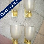 Set of 4 sconces in glass of Murano Véronèse - SOLD