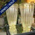 A set of vases in gilded glass of Murano - SOLD