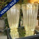 Paire de vases verre de Murano doré - VENDU
