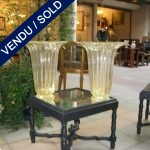 Set of vases in gilded glass of Murano - SOLD