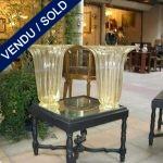 Paire de vases en verre de Murano doré - VENDU