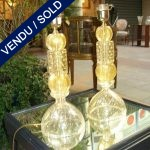Set of gilded lamps of Murano signed by Vittorio RIGATTIERI - SOLD