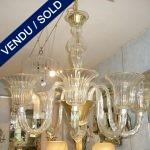 Lustre en verre de Murano 8 branches - VENDU