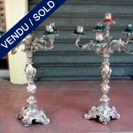 Candelabras in silver bronze - SOLD