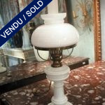 Ref : LL13  - Set of lamps in white opaline - SOLD