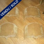 Ref : LA15 - Set of 4 sconces in gilded glass of Murano - SOLD