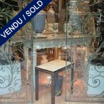 "Tiny table in ""Macassar"" - SOLD"