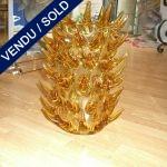 """Verre Murano ambre attribué """" COSTANTINI """" - VENDU"""
