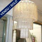 Lustre années 70 verre Murano carcasse d'origine - VENDU