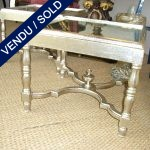 pair of coffee table silver leave and top in morror - SOLD