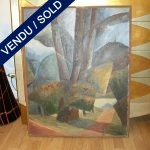 Ref : ADT005 - Russian painting signed by BATURIN, 1990s - SOLD