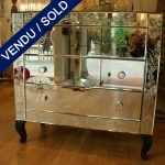 Commode in mirrors 3 drawers - SOLD